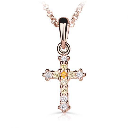 Přívěšek pro maminku Danfil křízek C5078 z růžového zlata