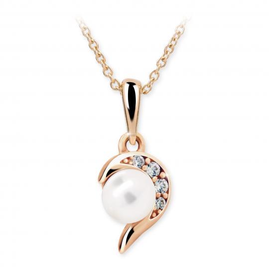 Wisiorek Danfil C2389 z różowego złota z perłą