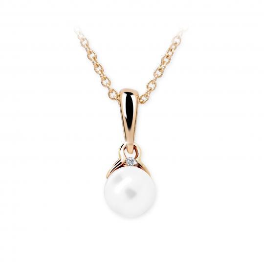 Wisiorek Danfil C2416 z perłą z różowego złota