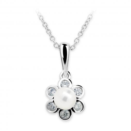 Wisiorek Danfil C2489 z perłą z białego złota