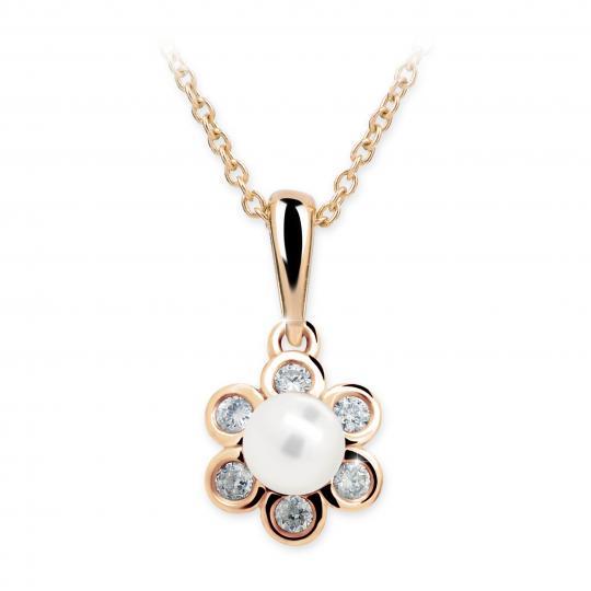 Wisiorek Danfil C2489 z perłą z różowego złota