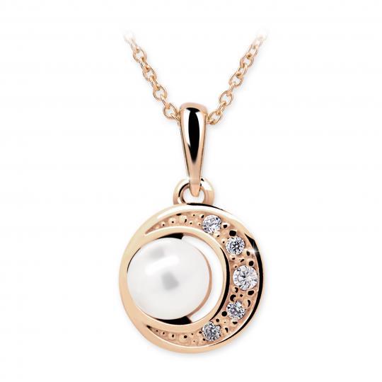 Wisiorek złoty Danfil C2256 z perłą