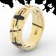 Pánský snubní prsten Danfil DLR3043 žluté zlato, bez kamene, povrch lesk