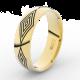 Pánský snubní prsten Danfil DLR3075 žluté zlato, bez kamene, povrch lesk