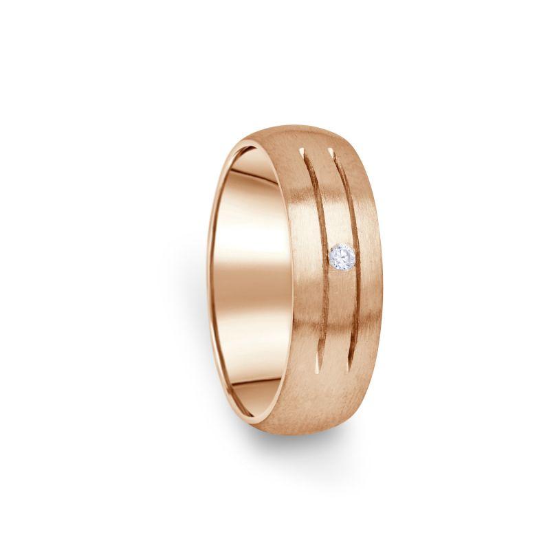 Zlatý dámský prsten DF 13/D z růžového zlata, s briliantem